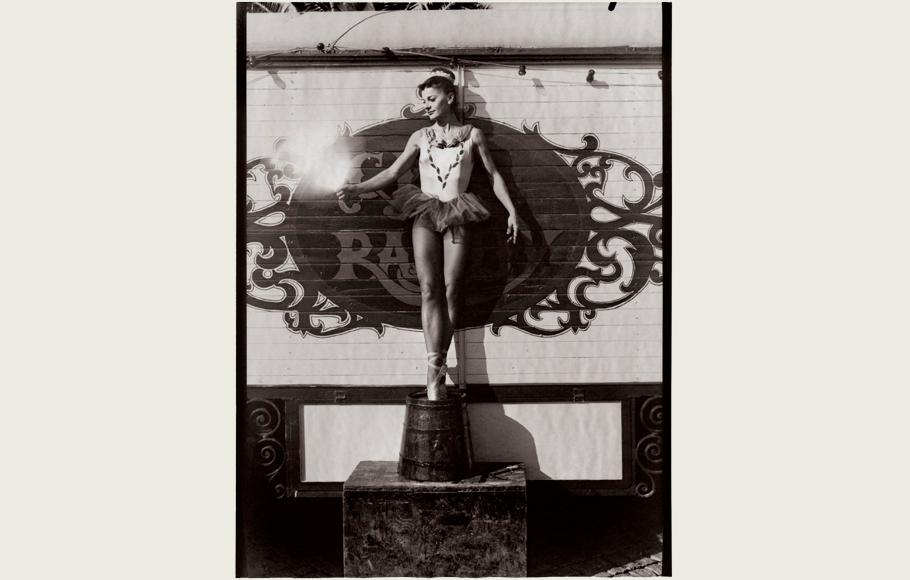 Retrato de Graziella, la trapecista.
