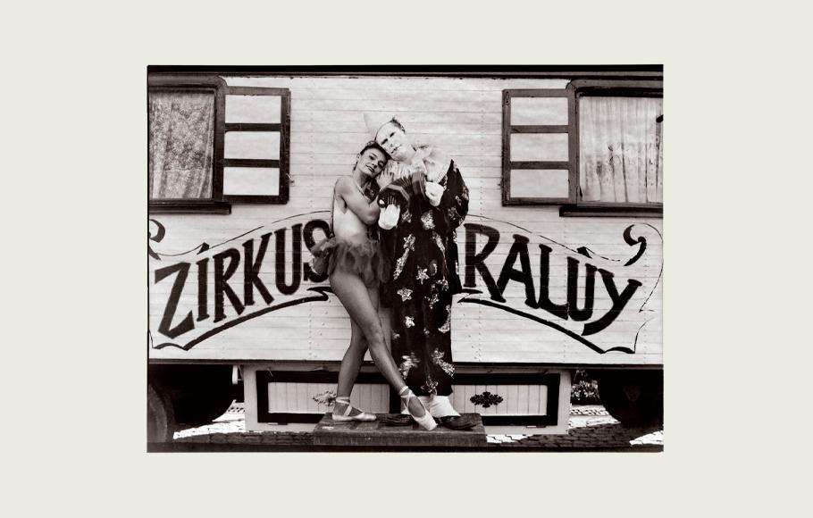 Retrato de Lluís Raluy y la trapecista Graziella.